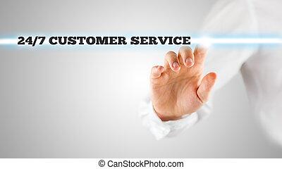 24/7, service clientèle