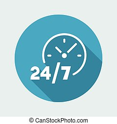 24/7 service - Vector web icon