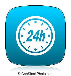 24h blue icon
