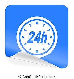 24h blue sticker icon