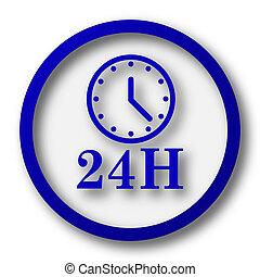 24H clock icon
