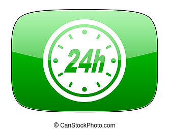 24h green icon
