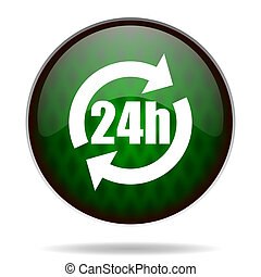 24h green internet icon