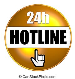 24h hotline button yellow