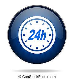 24h internet blue icon
