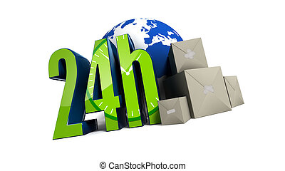 24h logo - sending everything in 24h in the world !