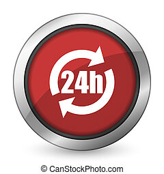 24h red icon