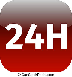 24H red icon or button
