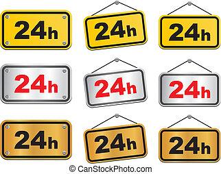 24h sign