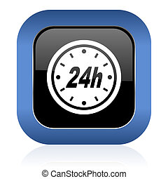 24h square glossy icon