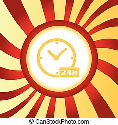 24h workhours abstract icon