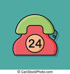 24hrs emergency call icon