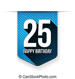 25年, 誕生日おめでとう, リボン