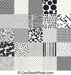 25, 別, ベクトル, patterns., seamless
