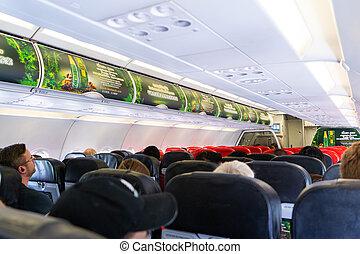 25, 飛行機, 10 月, 2018-bangkok::inside, キャビン