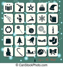 25 Abstract Christmas Icons.