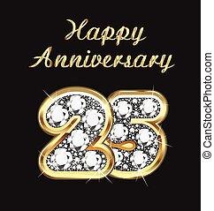 25, anni, anniversario, compleanno