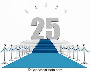 25, anno, anniversario