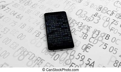 25., assurer, encrypted, encryption., téléphone, code.,...
