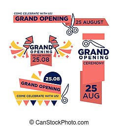 25 August grand opening ceremony bright invitations set