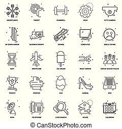 25, begrepp, affär, blanda, sätta, fodra, ikon