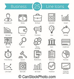 25 Business Line Icons
