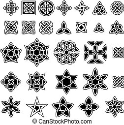 25 Celtic knots collection (Triquetra (Trinity) knot,...