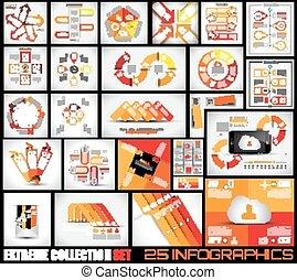 25, collection, fond, infographics, qualité, extrême