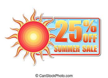 25, de, verano, porcentajes, sol, venta, etiqueta