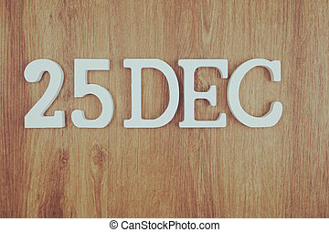 25 December Merry Christmas Holiday background