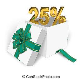 25% discount concept