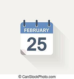 25 february calendar icon