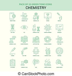 25 Green Chemistry Icon set