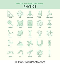 25 Green Physics Icon set