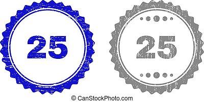 25, grunge, timbre, cachets, textured, ruban