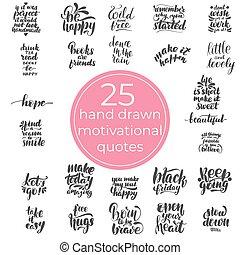 25 handwritten motivational quotes