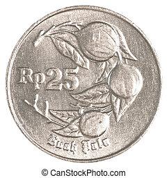 25, indonesiano, rupiah, moneta