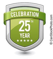 25, jahre, grün, schutzschirm, feier