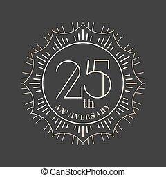 25, jubiläum, jahre, vektor, ikone, logo