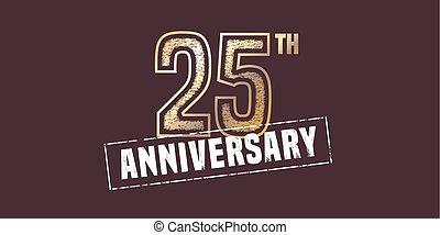 25, jubiläum, jahre, vektor, ikone, logo.