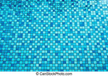 25 May 2016, Hotel swimming pool with sunny reflections, Swimming pool of luxury hotel, Swimming pool and wooden deck ideal for backgrounds
