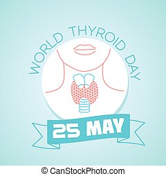 25 may World Thyroid Day - Calendar for each day on may 25....