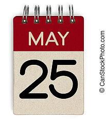 25, mei, kalender
