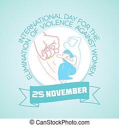 25 november Violence against Women - Calendar for each day...