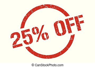 25% off stamp