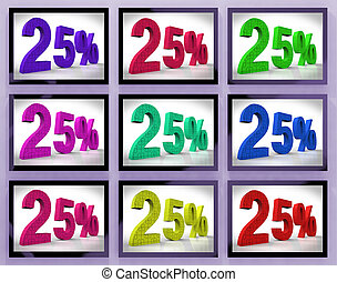 25 On Monitors Shows Special Offers And Reductions