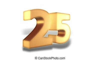 25 percent - gold - Animation on discount promotion -...