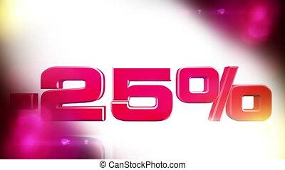 25 percent OFF 01 - 25 percent OFF discount animation