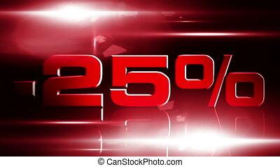 25 percent OFF 03 - 25 percent OFF discount animation