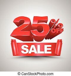 25 percent off sale red